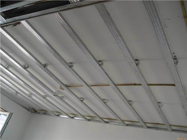 顶棚木龙骨单层结构图